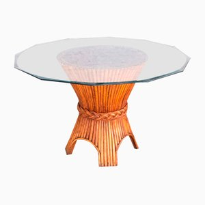 Bamboo Dining Table from McGuire, 1970s
