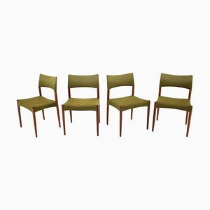 Danish Teak Dining Chairs, 1960s, Set of 4