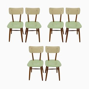 Dining Chairs, Czechoslovakia, 1960s, Set of 6