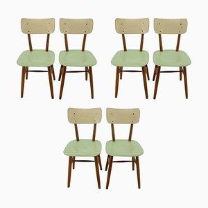 Esszimmerstühle, Tschechoslowakei, 1960er, 6er Set