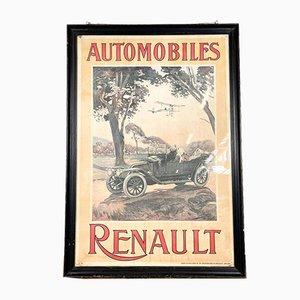 Póster vintage de coche de Bélgica
