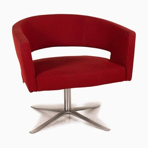 Turner Red Fabric Swivel Chair from Montis