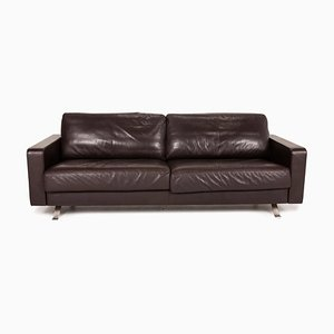 Brown Leather 3-Seater Sofa from Gyform