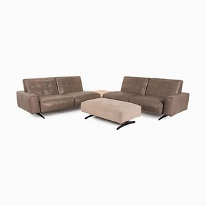 Model 50 Brown Leather Living Room Set from Rolf Benz