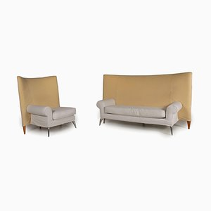 Royalton Beige Fabric Sofa Set by Philippe Starck for Driade, Set of 2