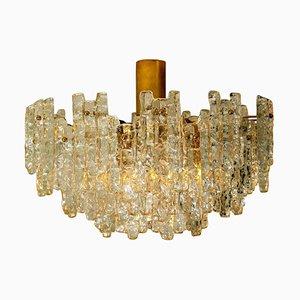 Große Glas Deckenlampe oder Kronleuchter von JT Kalmar, 1960er