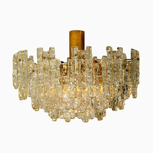 Large Glass Flush Mount or Chandelier by by J.T. Kalmar, 1960s