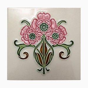 Art Nouveau Glazed Relief Tile from Gilliot, 1920s