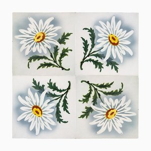 Antique Ceramic Tile from Faïencerie de Bouffioulx, 1920s