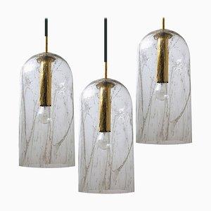 Lampe à Suspension en Verre de Doria, 1960s