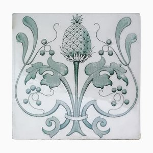 Art Nouveau Glazed Tiles, Belgium, 1920s, Set of 16