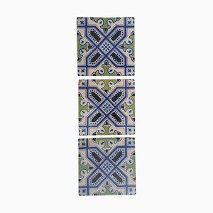 Antique Handmade Ceramic Tiles, Netherlands, 1920s, Set of 35