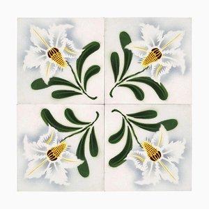 Antique Ceramic Tile from Faïencerie de Bouffioulx, 1920