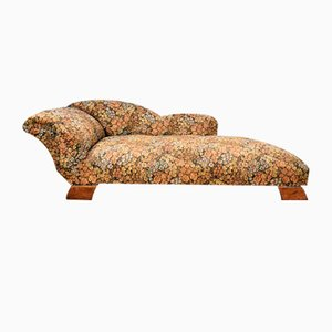 Florales Französisches Tagesbett im Art Deco Stil, Sofa oder Chaiselongue