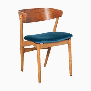 Vintage Stuhl mit Petrolblauem Sitz