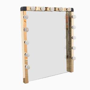 Illuminated Dressing Room Mirror in Gold