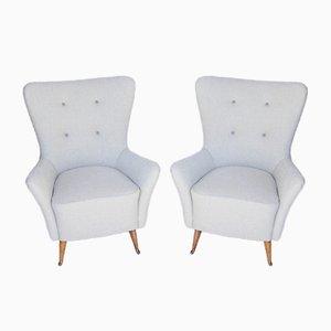 Mid-Century Italian Chairs, Set of 2