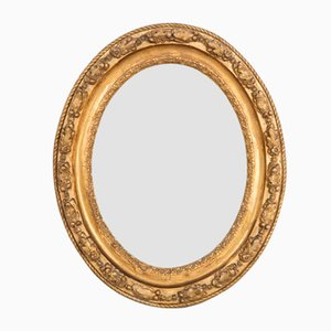 Small Antique Oval Mirror