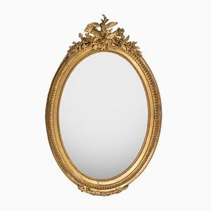 Antiker französischer ovaler Spiegel