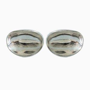 Ohrringe aus Silbernen Schalen von Sigurd Persson, 2er Set