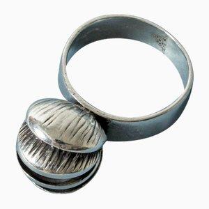 Ring aus Silber & Karneol von Elis Kauppi