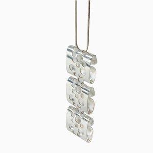 Silberne Hängelampe von Elis Kauppi