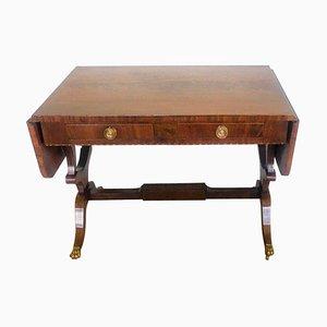 George III Inlaid Mahogany Free Standing Sofa Table