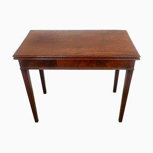 Antique George III Inlaid Mahogany Tea Table