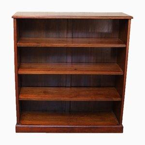 Offenes edwardianisches Bücherregal aus Mahagoni
