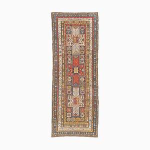 Geometrischer Vintage Shirvan Teppich in Dunkelblau mit Border
