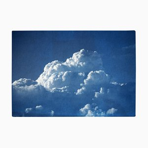 Cloudy Sky, Handmade Cyanotype Print on Watercolor Paper, 2021