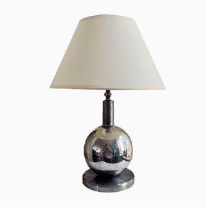 Versilberte Tischlampe, 1930er