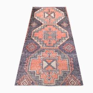 Vintage Handmade Turkish Oushak Runner Rug in Wool