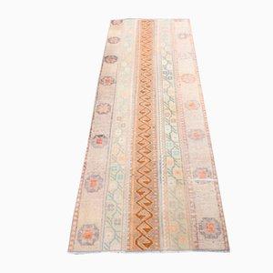 Vintage Turkish Patchwork Oushak Runner Rug in Wool, Anatolia