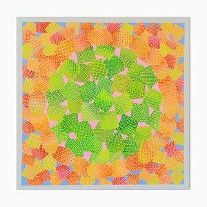 Felix Akulw, Sunlit Uplands (Winds of Change), Pintura abstracta contemporánea, 2020