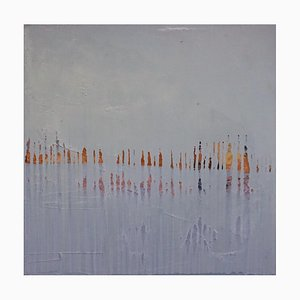 Paul Lorenz, Abwesenheit mit Erde und Grün, Abstrakte Zeitgenössische Amerikanische Kunst, 2007