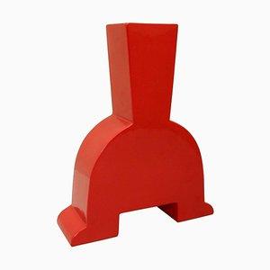 Red Ceramic Vase from Florio Keramia, Italy