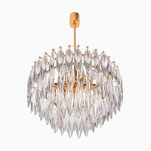 Crystal & Gold Plated Chandelier from Lobmeyr / Bakalowits, Vienna, 1960s