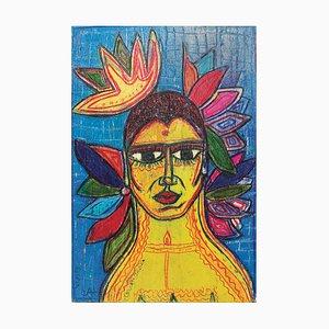 Catherine Bessin, Bouddha Jaune / Le flamand Rosé Recto / Verso, 2018