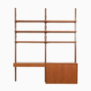 Royal 2-Bay Wall Unit with Desk and Cabinet by Poul Cadovius