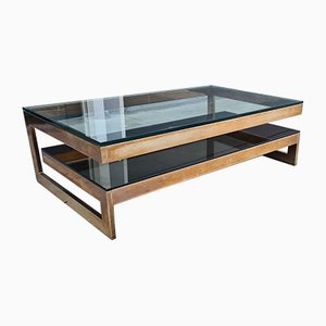 Belgian G-Shaped Coffee Table from Belgo Chrom / Dewulf Selection, 1970s