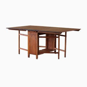 Antique Swedish Folding or Flip Table in Pine, 1890s