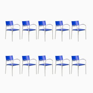 Breeze Dining Chairs by Carlo Bartoli for Segis, 1990s, Set of 10
