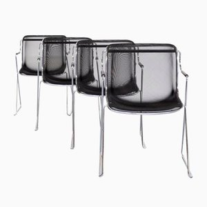 Penelope Chairs by Charles Pollock for Castelli, Set of 4