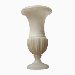 Antike Alabaster Urne Tischlampe
