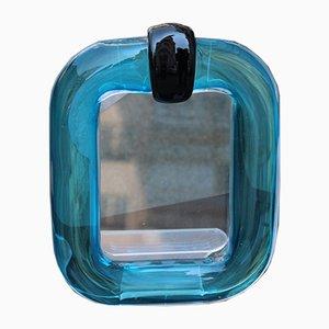 Italian Black Murano Glass Frame by Marcello Furlan