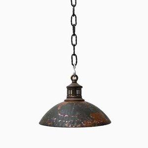 Antique English Mercury Glass Pendant Lamp