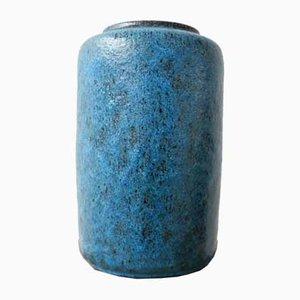 Vase Mid-Century Bleu en Céramique par Pieter Groeneveldt
