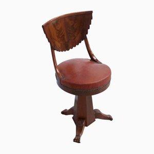 19th Century Mahogany Harpist Chair