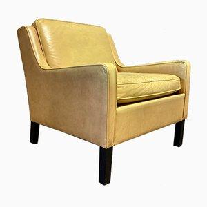 Scandinavian Leather Armchair, 1960